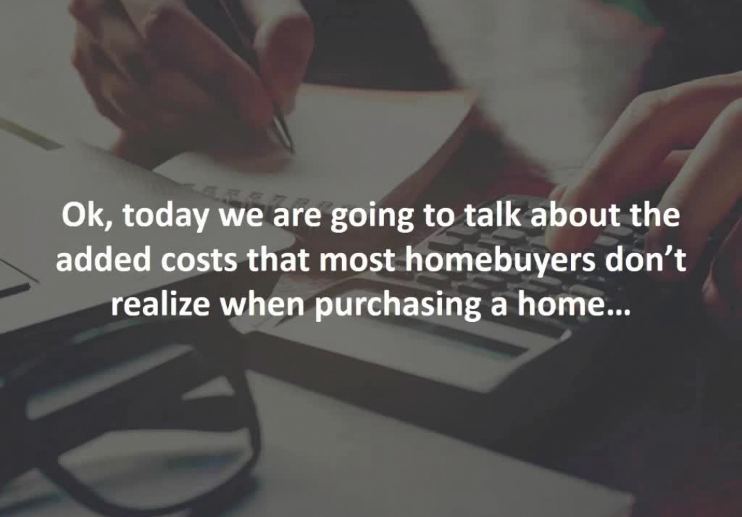 Sarasota Mortgage Broker reveals the unexpected costs that come when buying a home